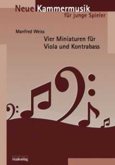 Vier Miniaturen für Viola und Kontrabass